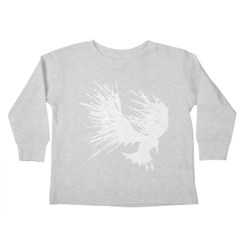 Bird Splatter White Kids Toddler Longsleeve T-Shirt by Hump