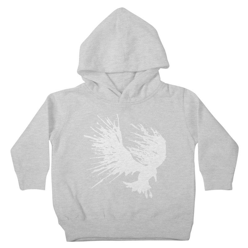 Bird Splatter White Kids Toddler Pullover Hoody by Hump