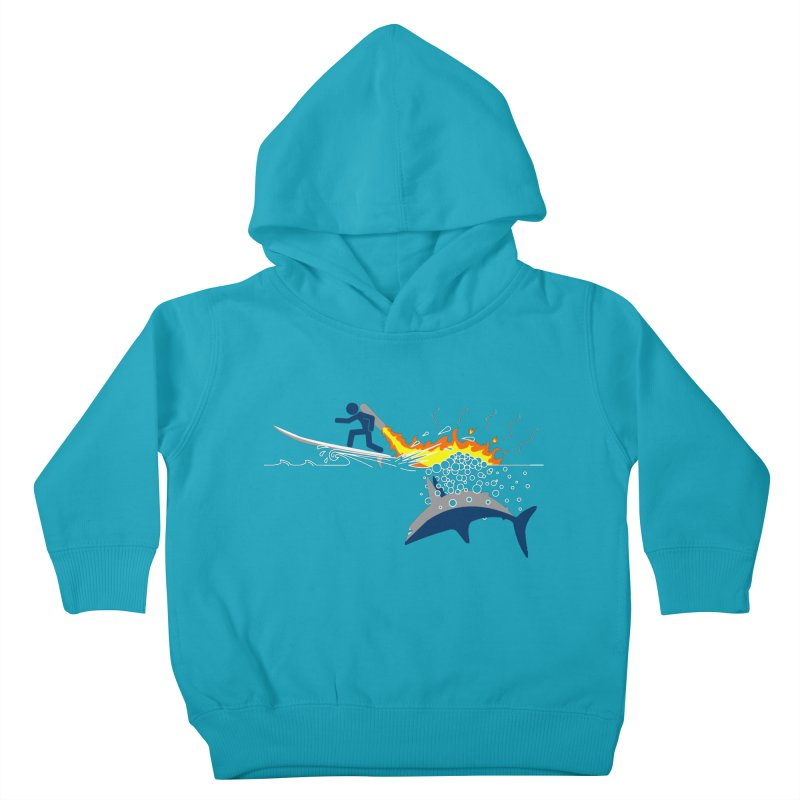 Jet-Pack VS. Shark Kids Toddler Pullover Hoody by Hump