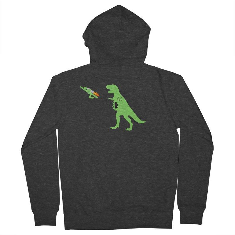 Jet-Pack VS. T-Rex Men's Zip-Up Hoody by Hump