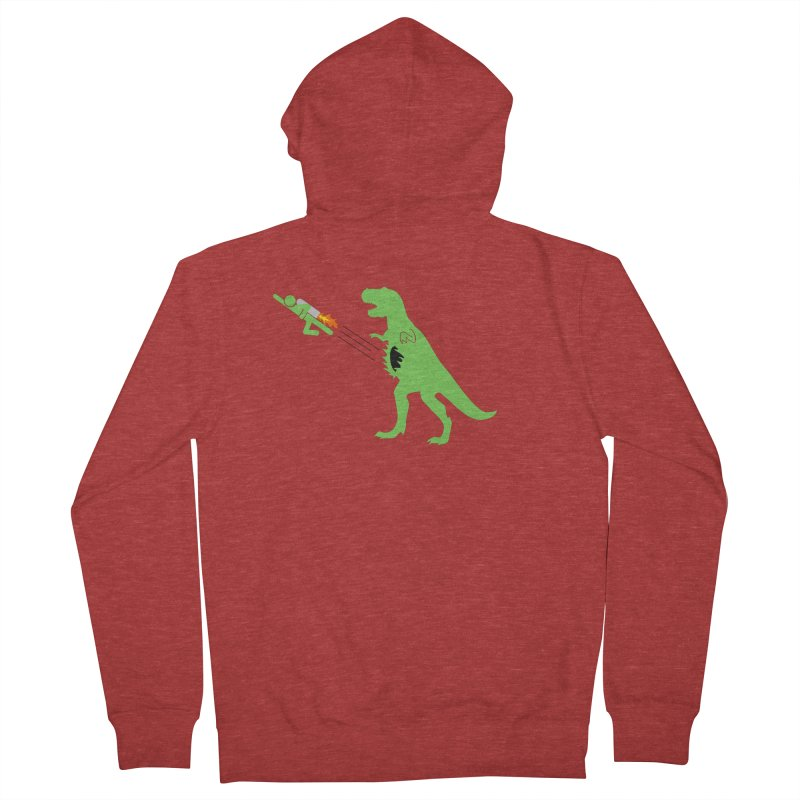 Jet-Pack VS. T-Rex Men's Zip-Up Hoody by Hump