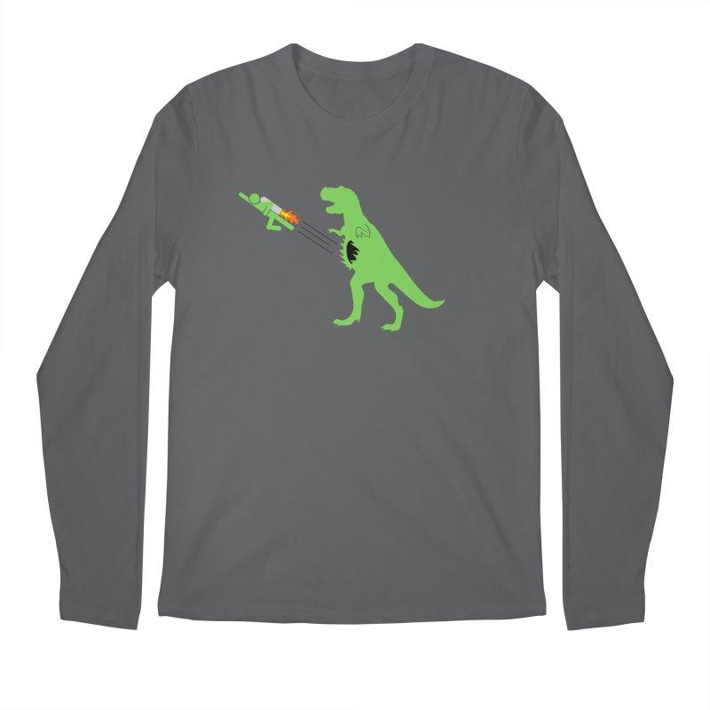 Jet-Pack VS. T-Rex Men's Longsleeve T-Shirt by Hump