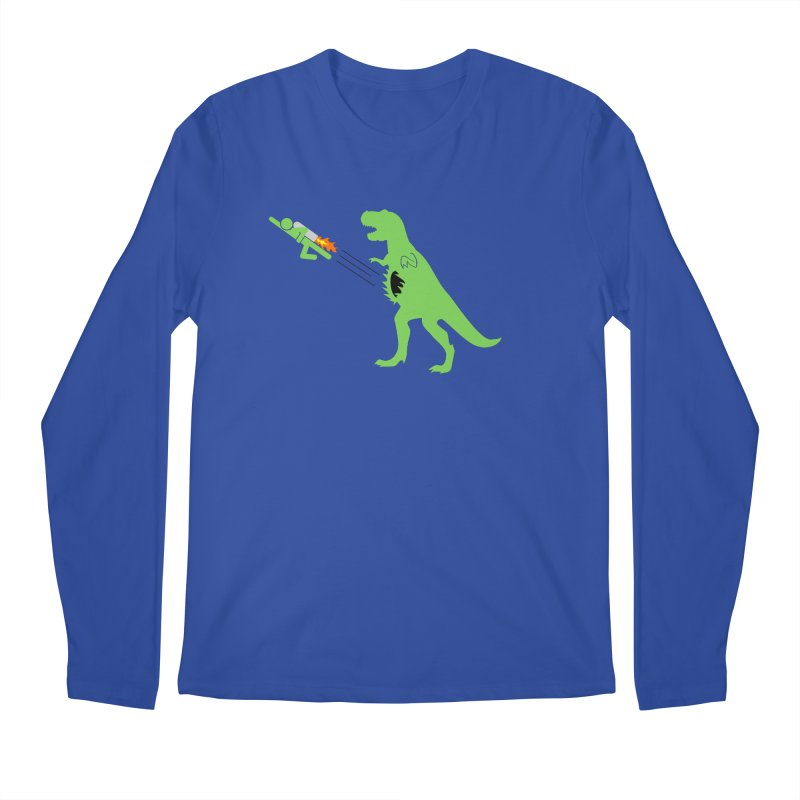 Jet-Pack VS. T-Rex Men's Longsleeve T-Shirt by Hump