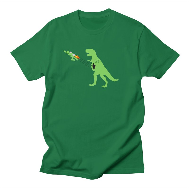 Jet-Pack VS. T-Rex Men's T-shirt by Hump