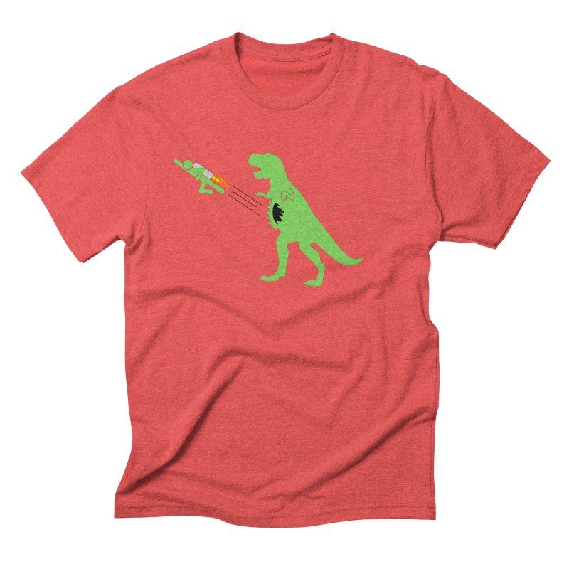 Jet-Pack VS. T-Rex Men's Triblend T-shirt by Hump