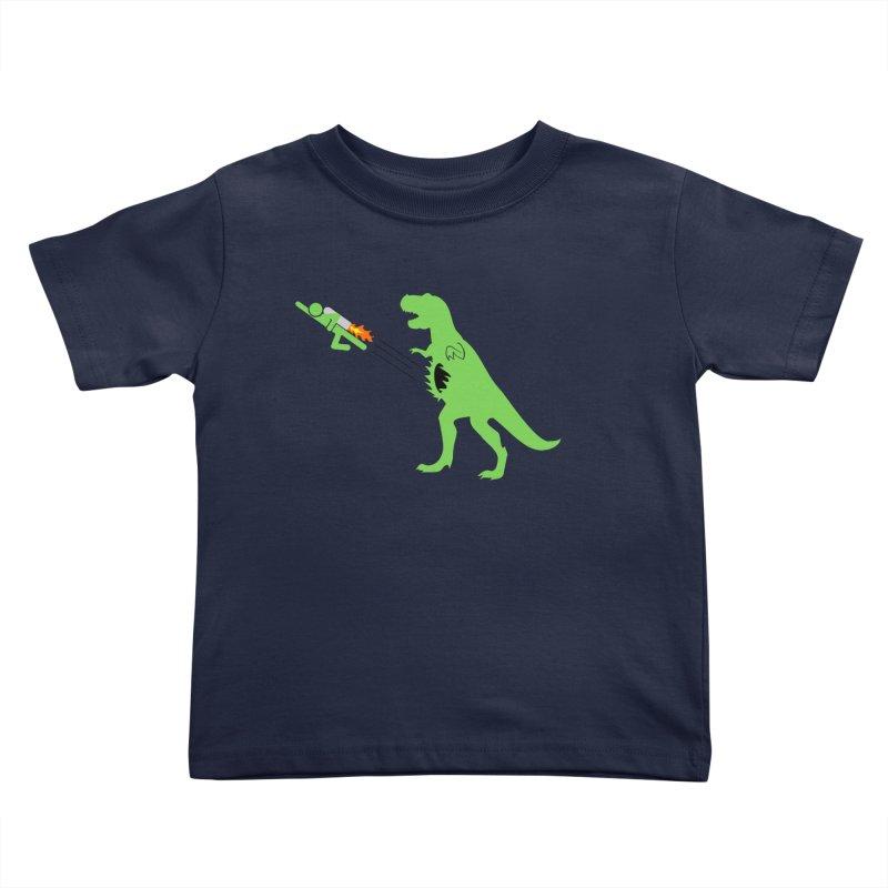 Jet-Pack VS. T-Rex Kids Toddler T-Shirt by Hump
