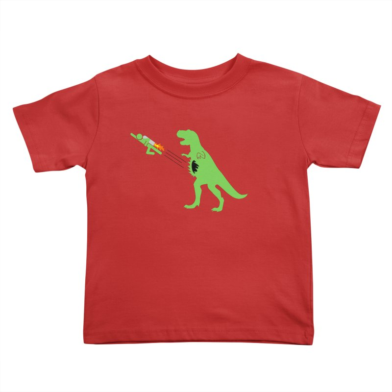 Jet-Pack VS. T-Rex Kids Toddler T-Shirt by Hump