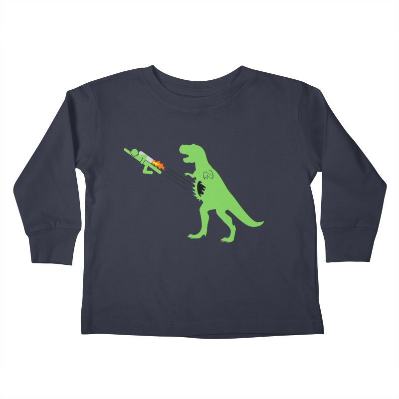 Jet-Pack VS. T-Rex Kids Toddler Longsleeve T-Shirt by Hump