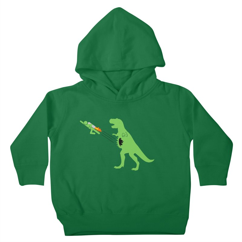 Jet-Pack VS. T-Rex Kids Toddler Pullover Hoody by Hump