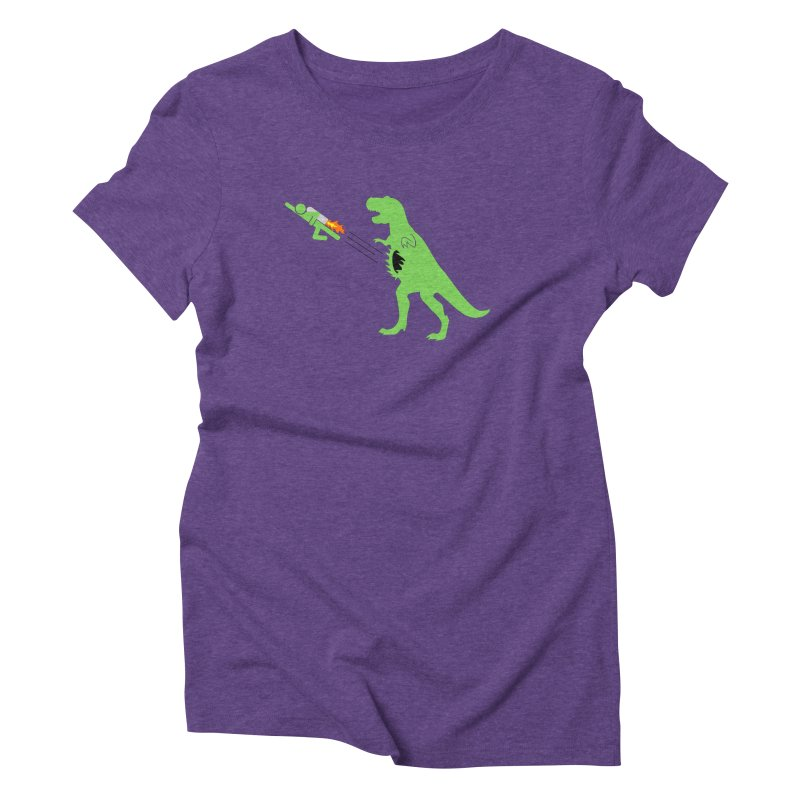 Jet-Pack VS. T-Rex Women's Triblend T-Shirt by Hump
