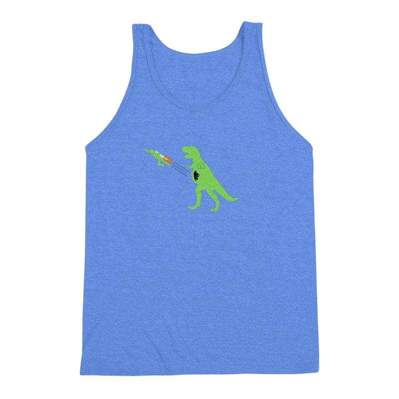 Jet-Pack VS. T-Rex Men's Triblend Tank by Hump