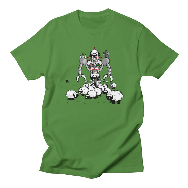 Robot in Sheep's Clothing in Men's T-shirt Clover by Hump