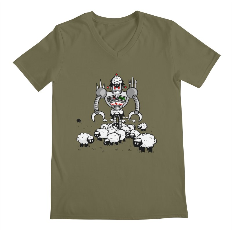 Robot in Sheep's Clothing Men's V-Neck by Hump