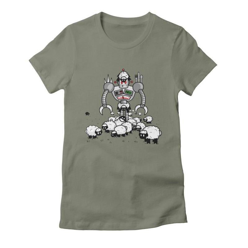 Robot in Sheep's Clothing Women's Fitted T-Shirt by Hump