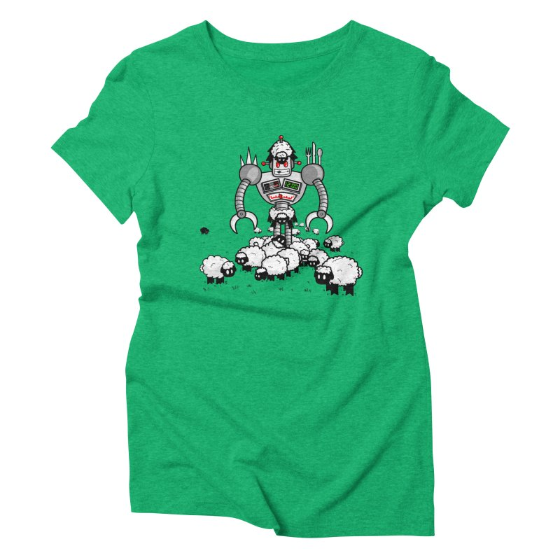 Robot in Sheep's Clothing Women's Triblend T-shirt by Hump