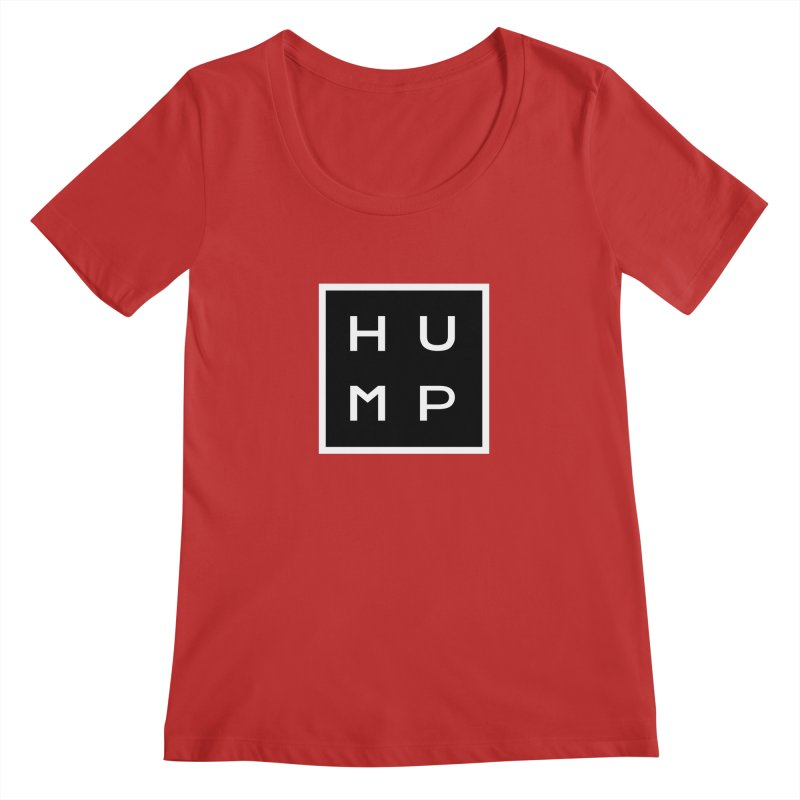 Box of Hump  Women's Scoopneck by Hump
