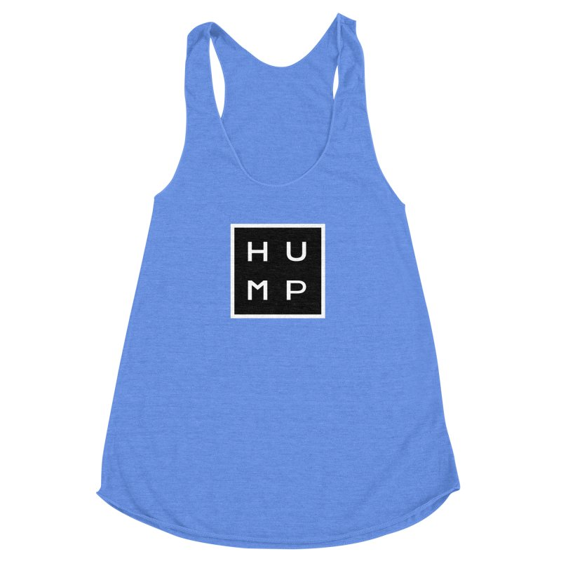 Box of Hump  Women's Racerback Triblend Tank by Hump