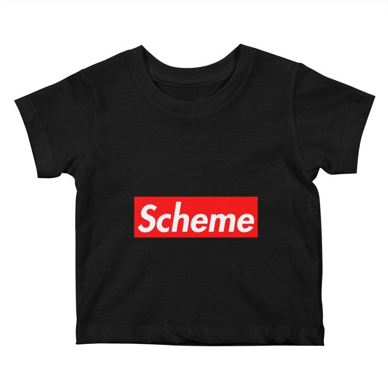 Scheme Kids Baby T-Shirt by Hump