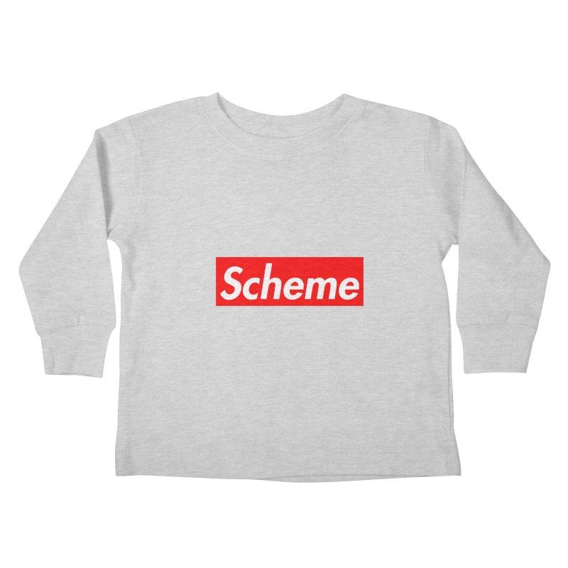 Scheme Kids Toddler Longsleeve T-Shirt by Hump