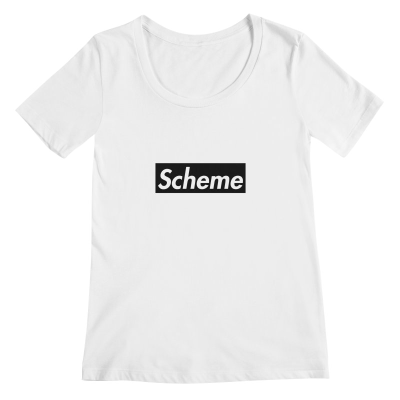 Scheme black Women's Scoopneck by Hump
