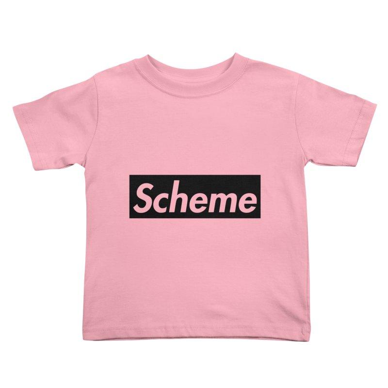 Scheme black Kids Toddler T-Shirt by Hump