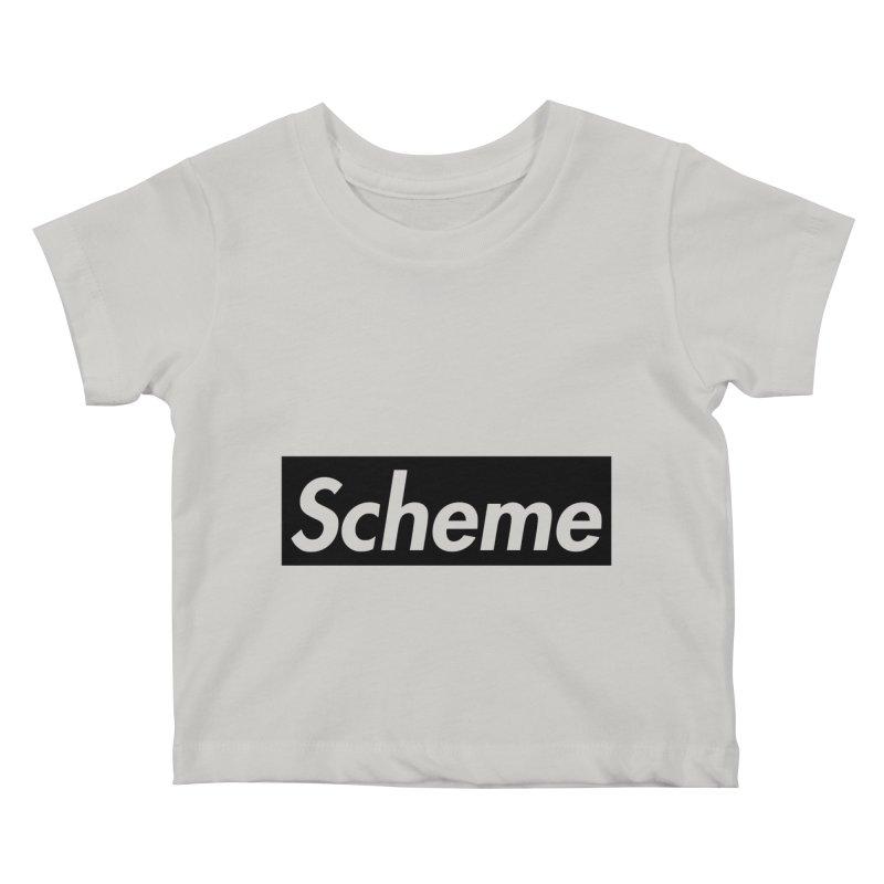 Scheme black Kids Baby T-Shirt by Hump