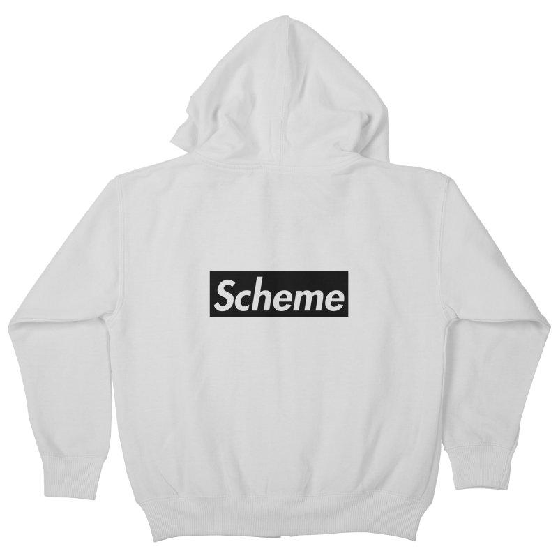 Scheme black Kids Zip-Up Hoody by Hump
