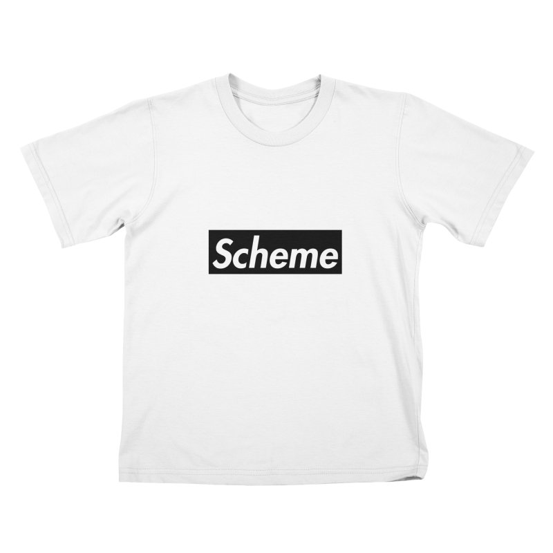 Scheme black Kids T-Shirt by Hump