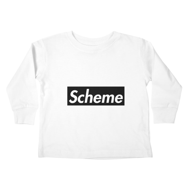 Scheme black Kids Toddler Longsleeve T-Shirt by Hump