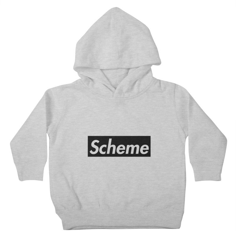 Scheme black Kids Toddler Pullover Hoody by Hump