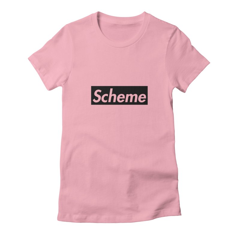 Scheme black Women's Fitted T-Shirt by Hump