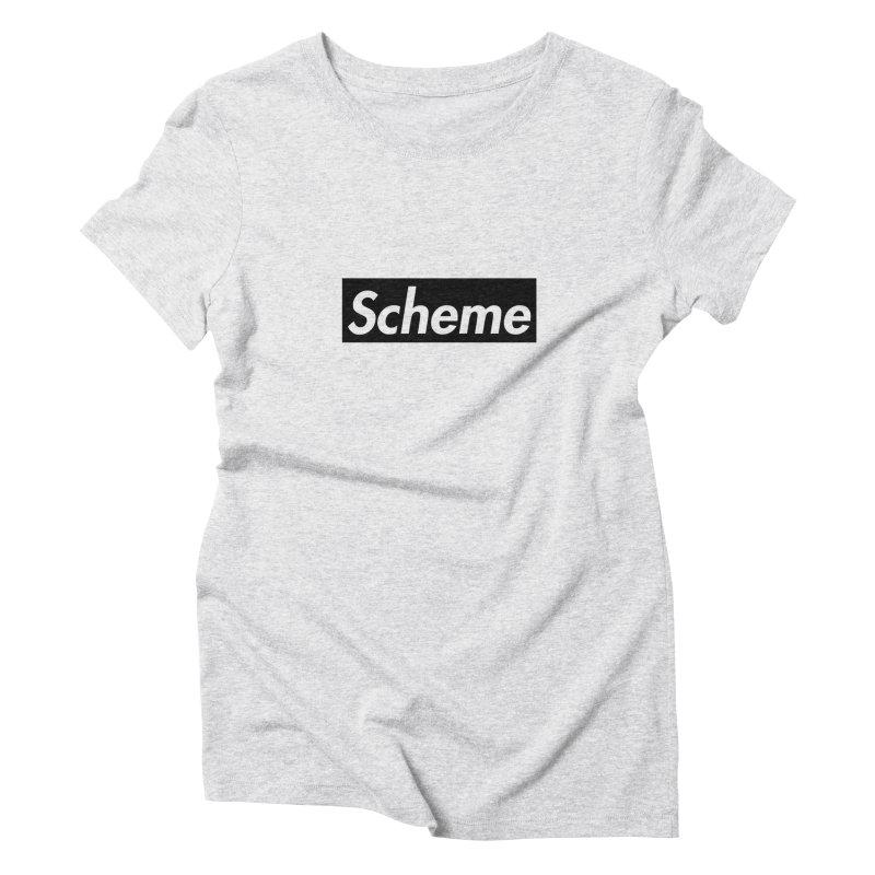 Scheme black Women's Triblend T-Shirt by Hump