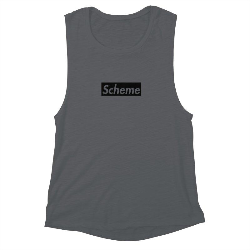 Scheme black Women's Muscle Tank by Hump