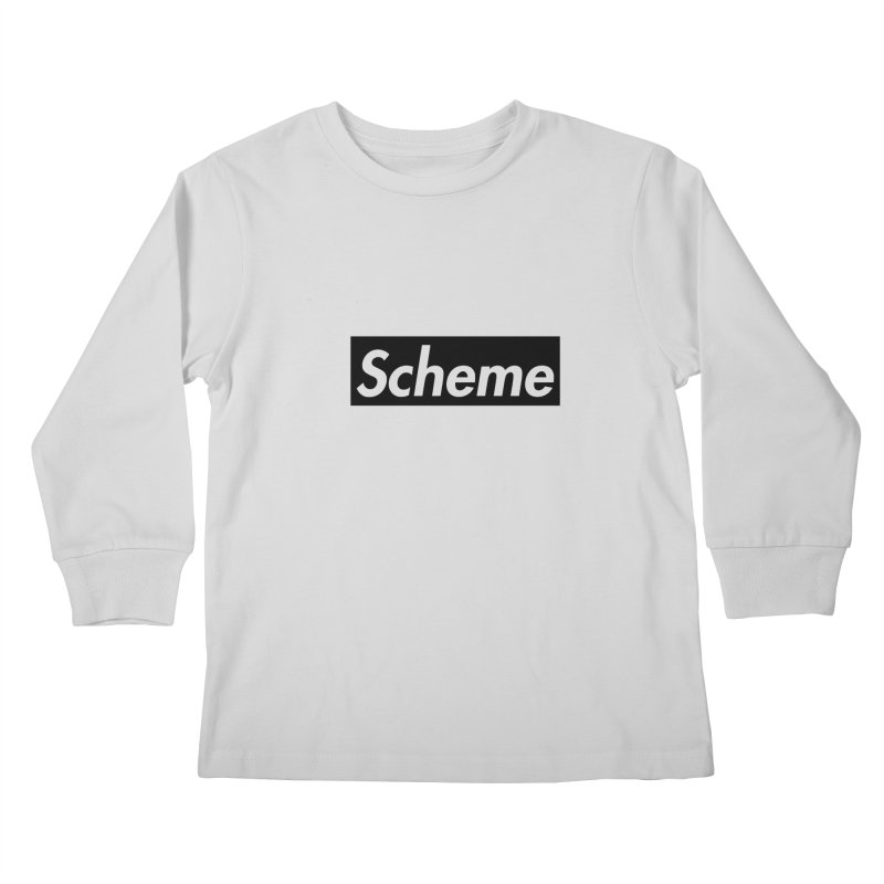 Scheme black Kids Longsleeve T-Shirt by Hump
