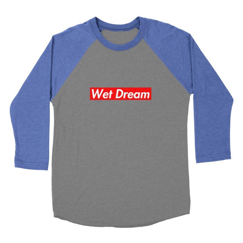 Wet Dream red Men's Baseball Triblend T-Shirt by Hump