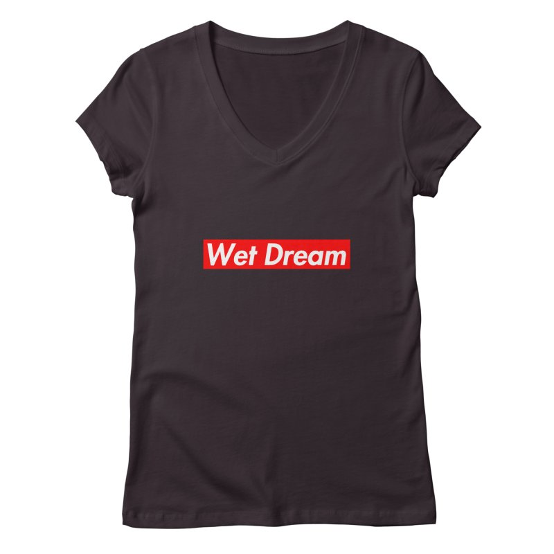 Wet Dream red Women's V-Neck by Hump