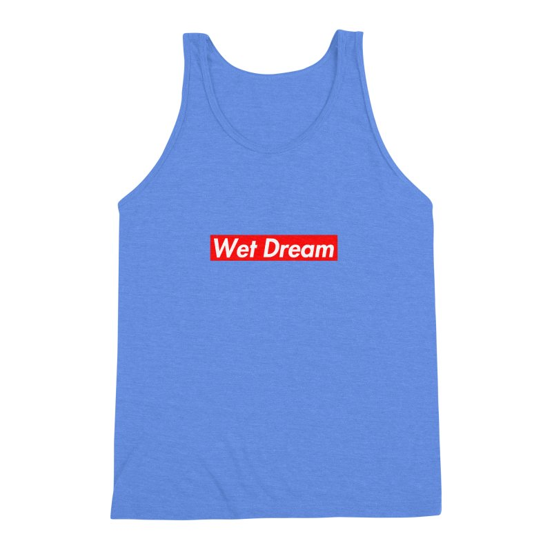 Wet Dream red Men's Triblend Tank by Hump