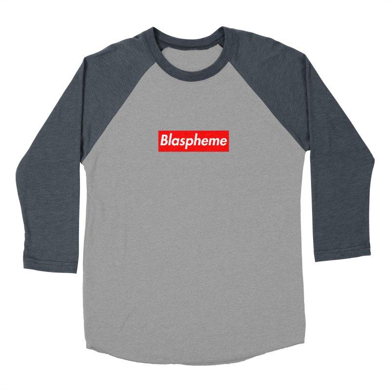 Blaspheme Men's Baseball Triblend T-Shirt by Hump