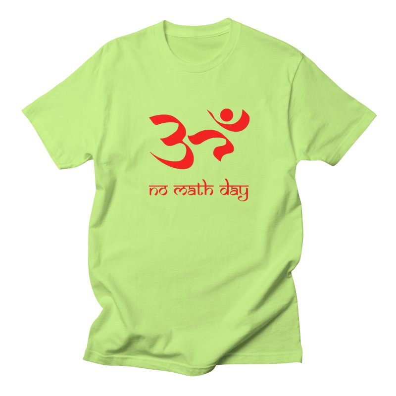 No Math Day (red) Men's T-Shirt by Hump