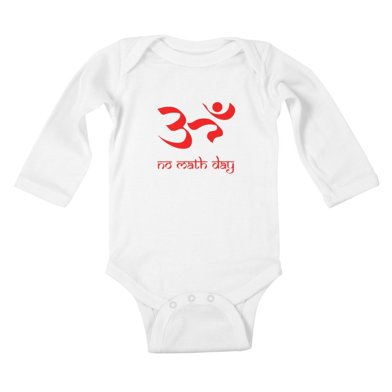 No Math Day (red) Kids Baby Longsleeve Bodysuit by Hump