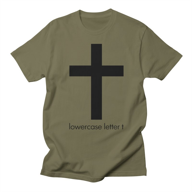 lowercase letter t Men's T-Shirt by Hump
