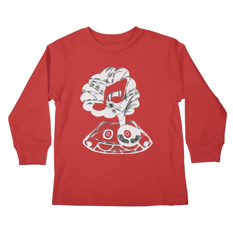 RICH SOIL BLK Kids Longsleeve T-Shirt by HUNDRED
