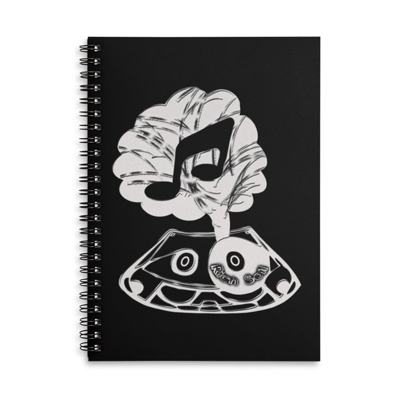 RICH SOIL BLK Accessories Lined Spiral Notebook by HUNDRED