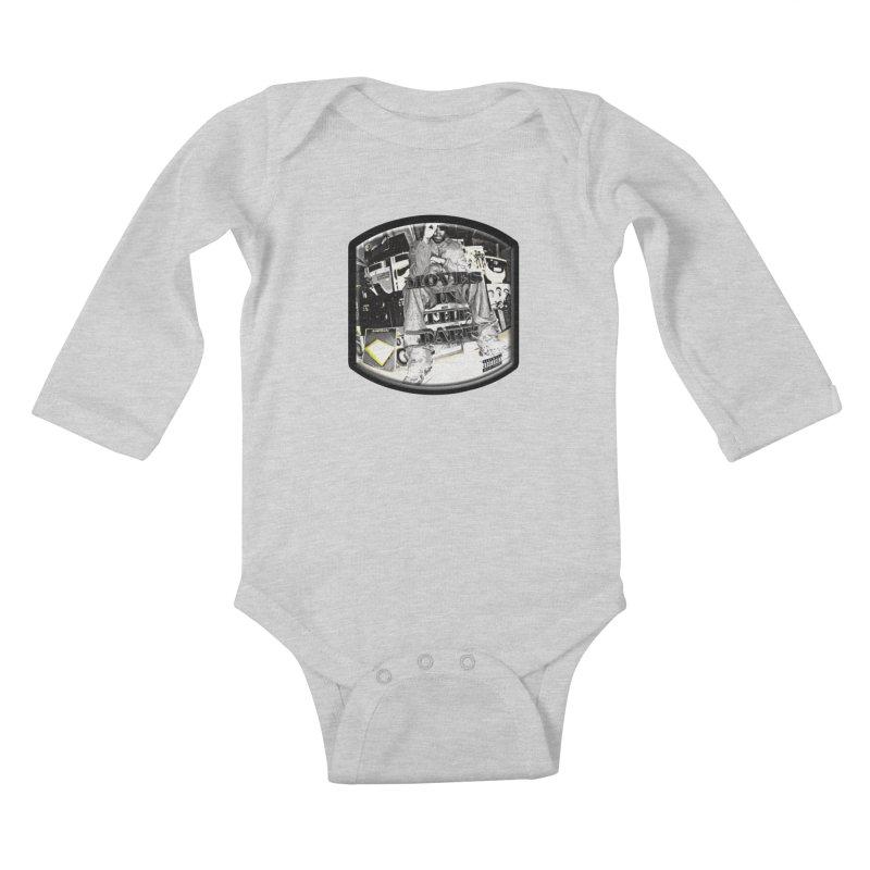 Moves In The Dark Kids Baby Longsleeve Bodysuit by HUNDRED