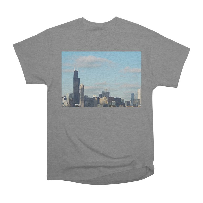 00 IllState Of Mind-Chi 94 Willis Tower Women's Heavyweight Unisex T-Shirt by HUNDRED