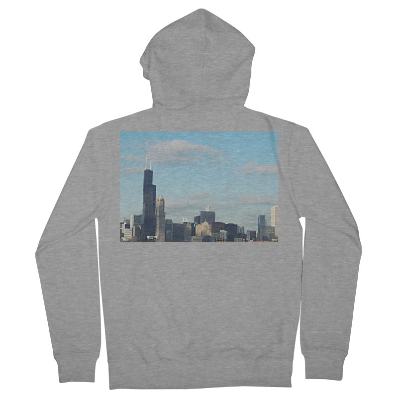 00 IllState Of Mind-Chi 94 Willis Tower Women's French Terry Zip-Up Hoody by HUNDRED