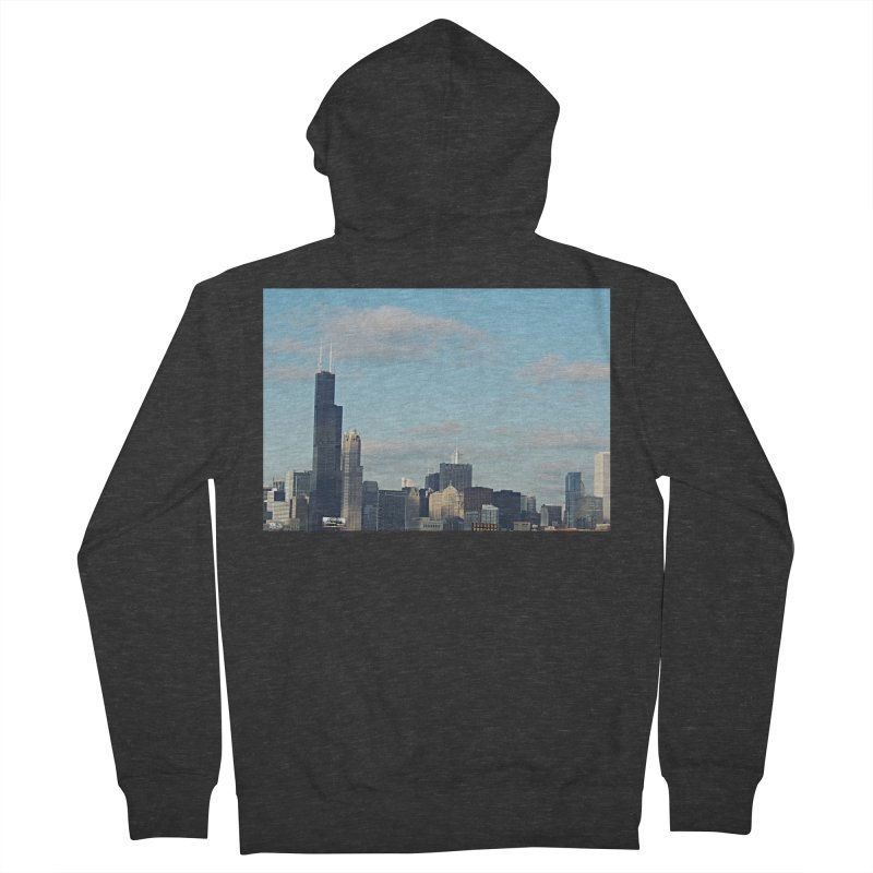 00 IllState Of Mind-Chi 94 Willis Tower Men's French Terry Zip-Up Hoody by HUNDRED