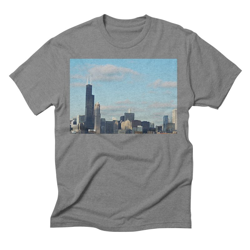 00 IllState Of Mind-Chi 94 Willis Tower Men's Triblend T-Shirt by HUNDRED