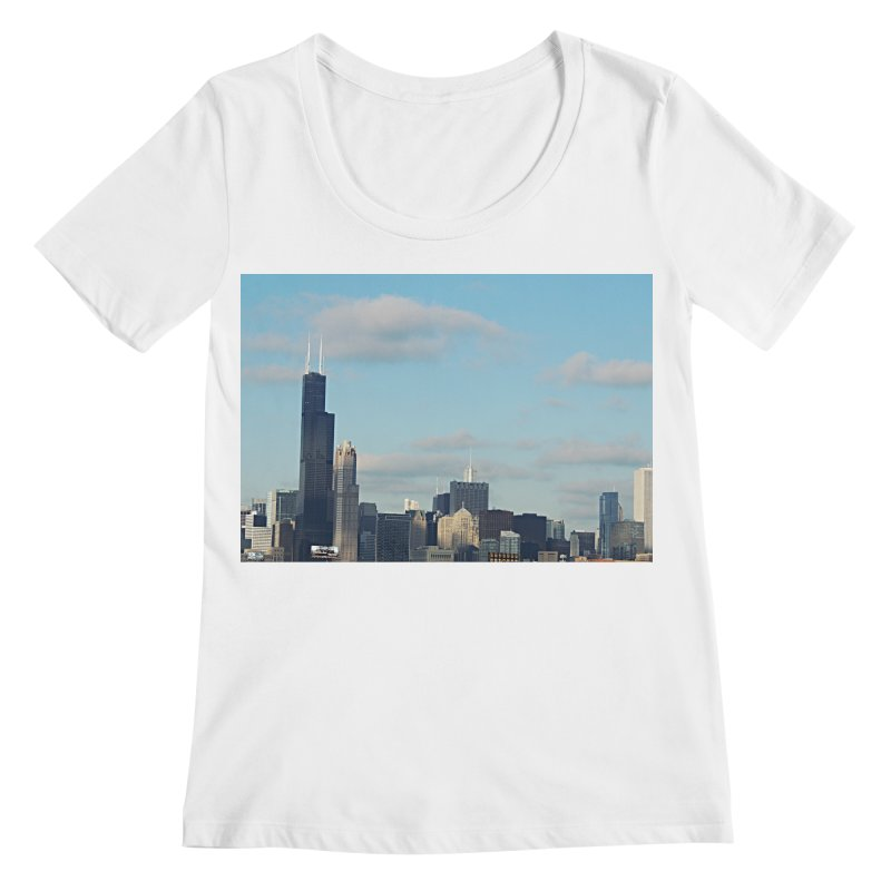00 IllState Of Mind-Chi 94 Willis Tower Women's Regular Scoop Neck by HUNDRED