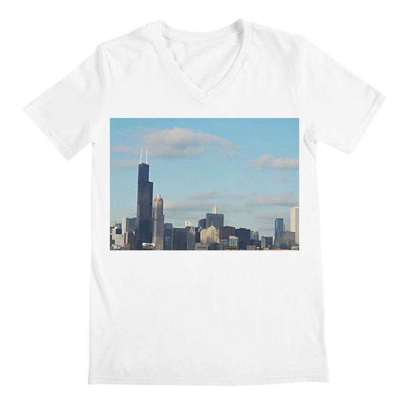 00 IllState Of Mind-Chi 94 Willis Tower Men's Regular V-Neck by HUNDRED